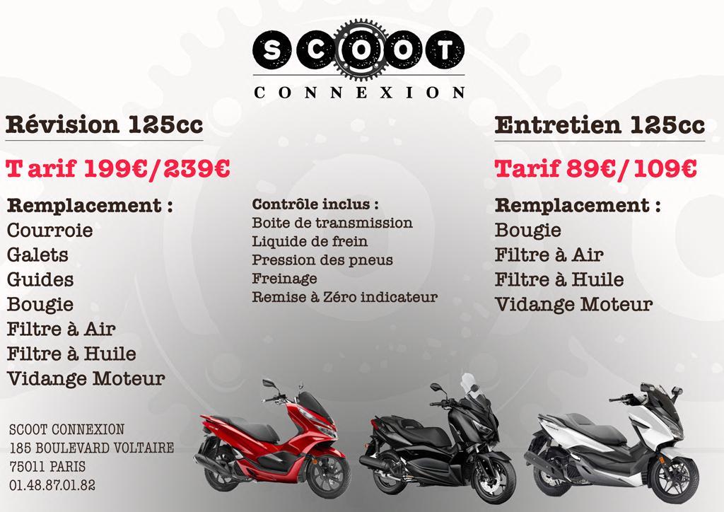 tarifs révision 125cc par scoot connexion